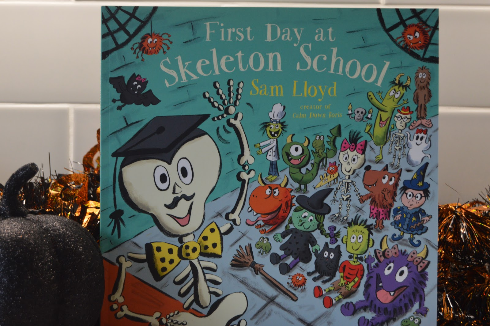 first day at skeleton school book