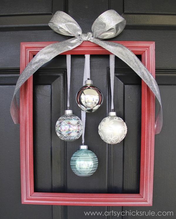 Holiday Framed Ornament Wreath