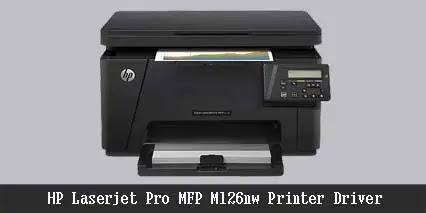 HP Laserjet Pro MFP M126nw Printer Driver Free Download