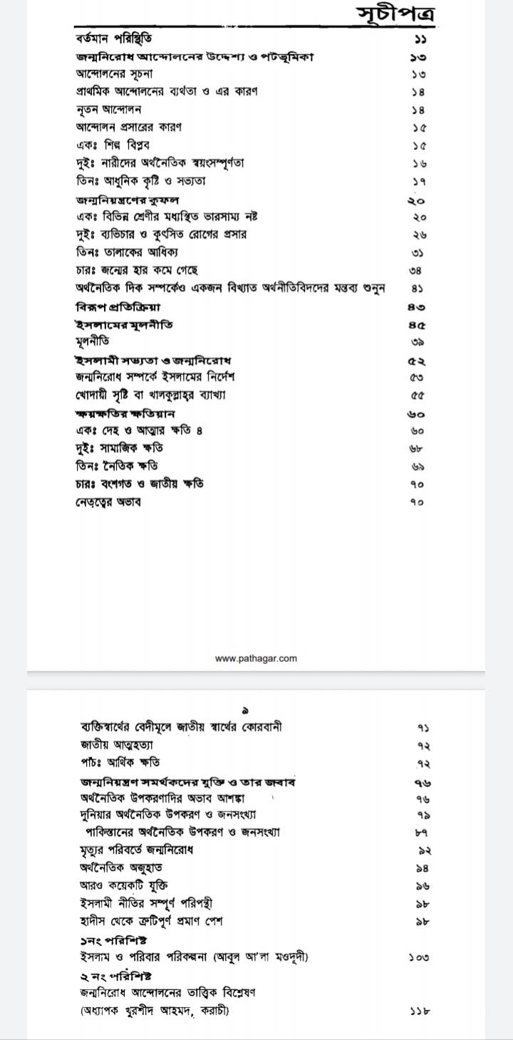 ইসলামের দৃষ্টিতে জন্মনিয়ন্ত্রণ pdf | ইসলামিক বই pdf