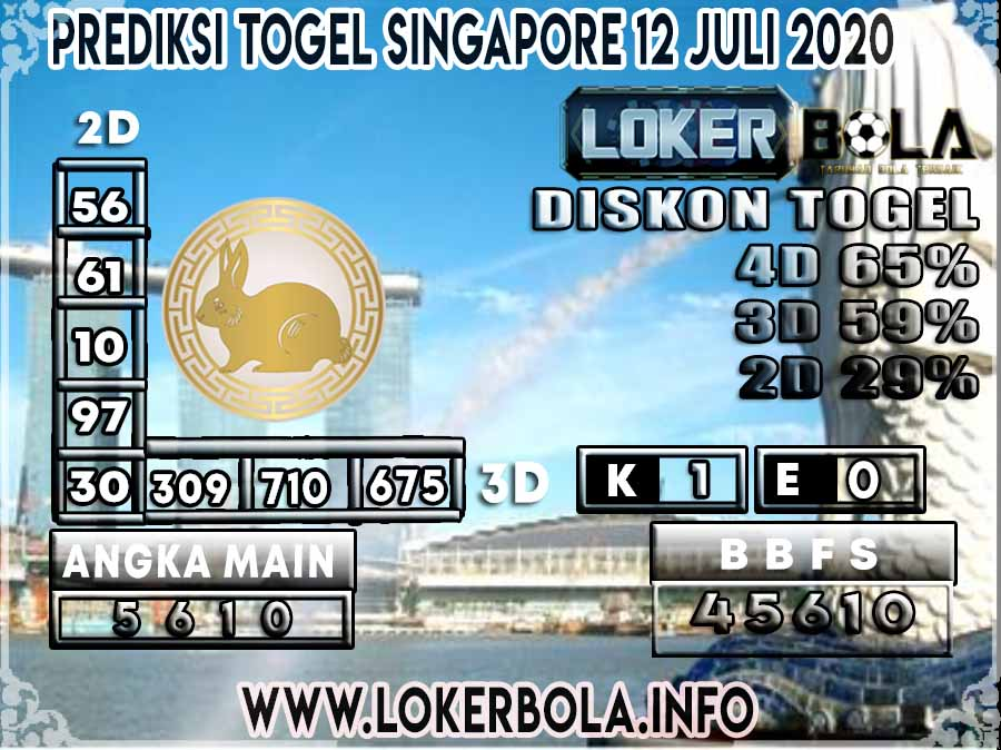 PREDIKSI TOGEL SINGAPORE LOKERBOLA 12 JULI 2020