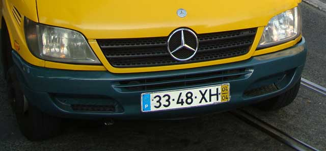License plate in Portugal