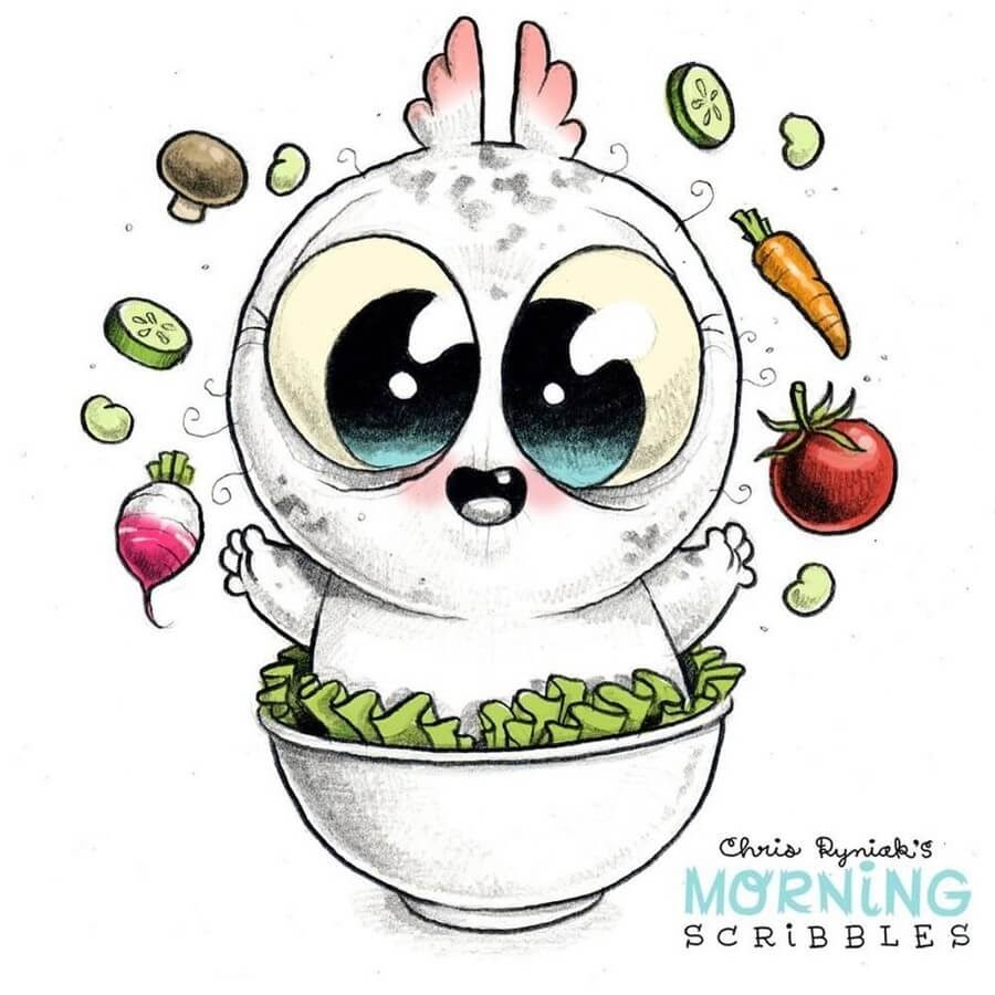 04-Veggie-Bowl-Chris-Ryniak-Cute-Creatures-www-designstack-co