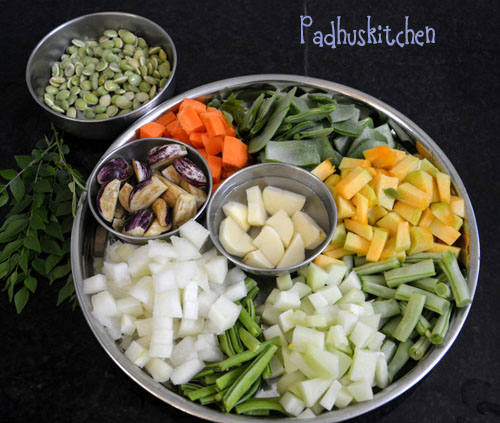 vegetables for ezhukari kootu