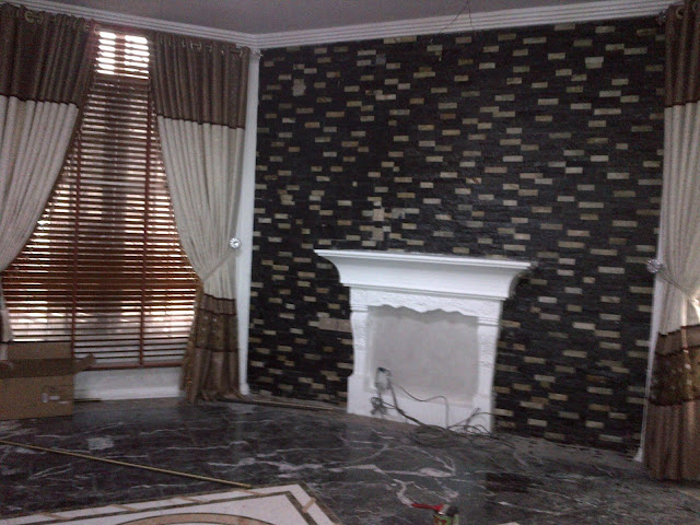 black colored ledge stones
