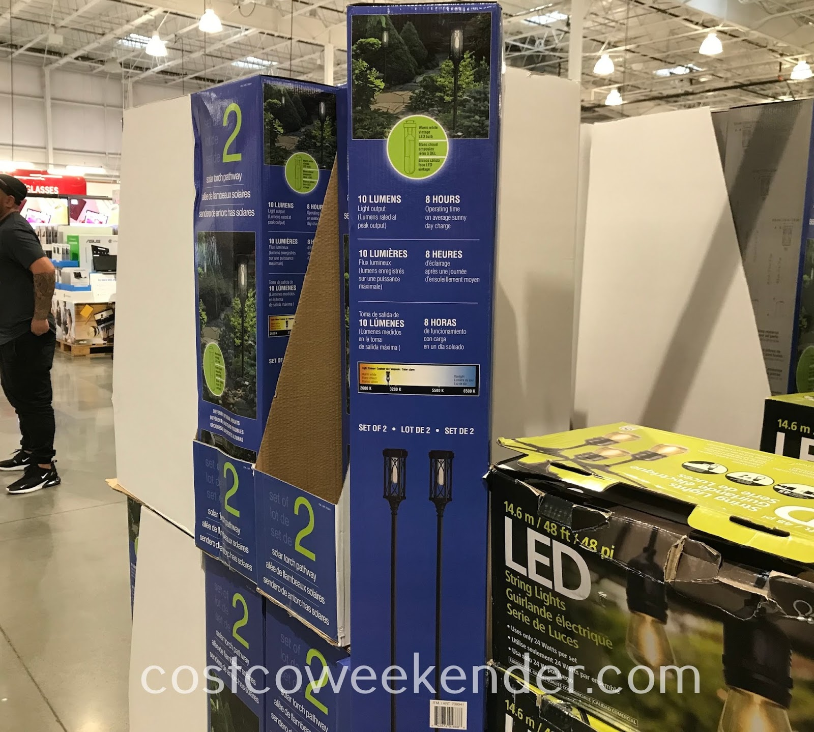 Costco 709341 - Naturally Solar Torch Pathway Lights help light up the outside of your home