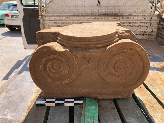 Ionic capital found in a well in Gela