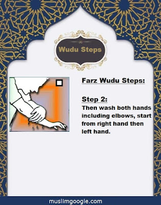 how to make wudu steps