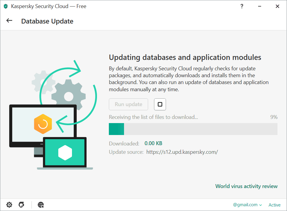 Kaspersky Security Cloud Database Update Screenshot