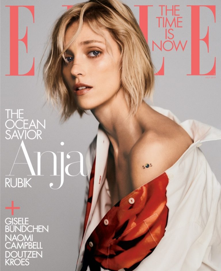 Anja Rubik on ELLE US July 2019 Cover
