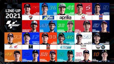 Dorna Sport Resmi Rilis Daftar Pembalap MotoGP 2021