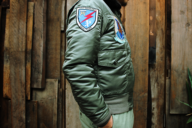 cockpitusaコックピットusag1jackettypeg1b15dtopgunjacketnylonjacketgreenangleグリーンアングルusnavy