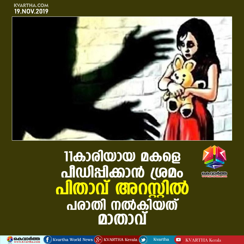 Father Arrested for Molesting and Assaulting his minor daughter, Thiruvananthapuram, News, Molestation, Crime, Criminal Case, Police, Arrested, National.