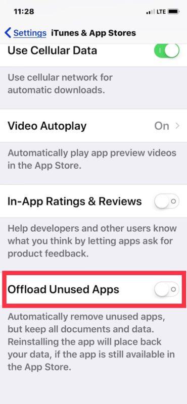 Cara Non Aktifkan Offload Unused Apps