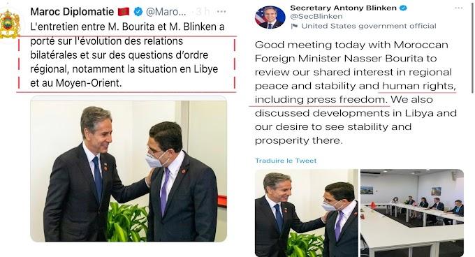 تويتر يفضح أكاذيب وزير الخارجية المغربي ناصر بوريطة.