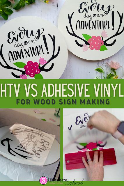 silhouette 101, silhouette america blog, wood signs, heat transfer vinyl, adhesive vinyl