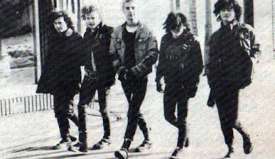 Brigg punk band The Diseased in the town centre in the mid-1980s