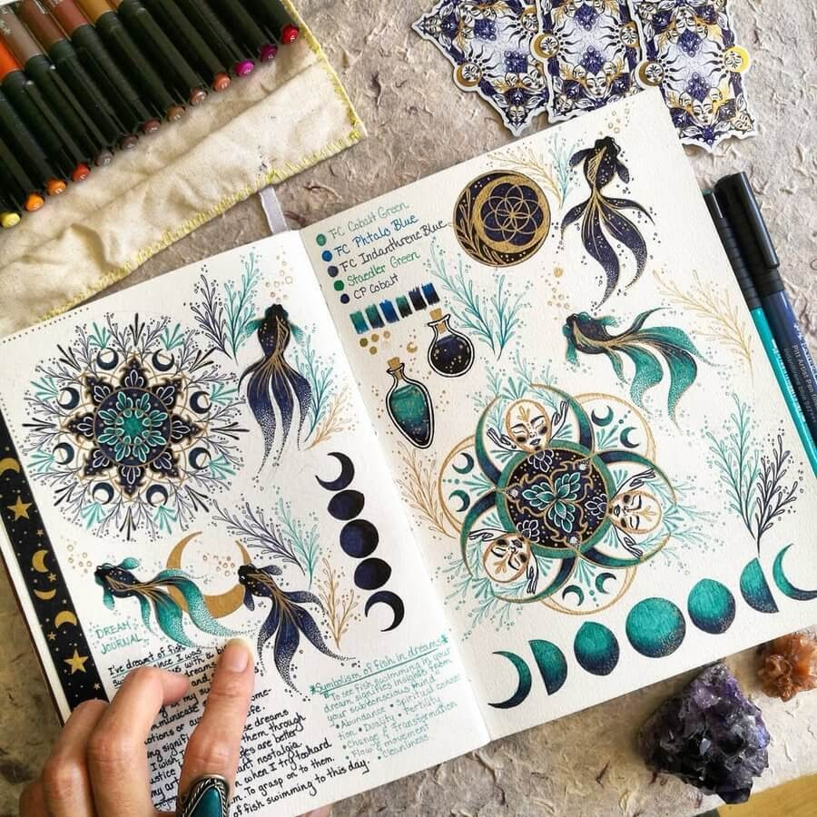 01-Fish-and-the-moon-Claire-Chi-www-designstack-co