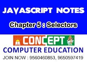 Chapter 5: Selectors in JavaScript
