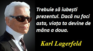 Maxima zilei: 10 septembrie - Karl Lagerfeld