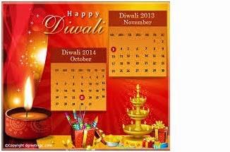 Diwali Calendar 2016