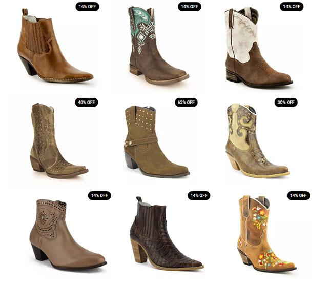 Botas Femininas  cano curto – Brasil Cowboy