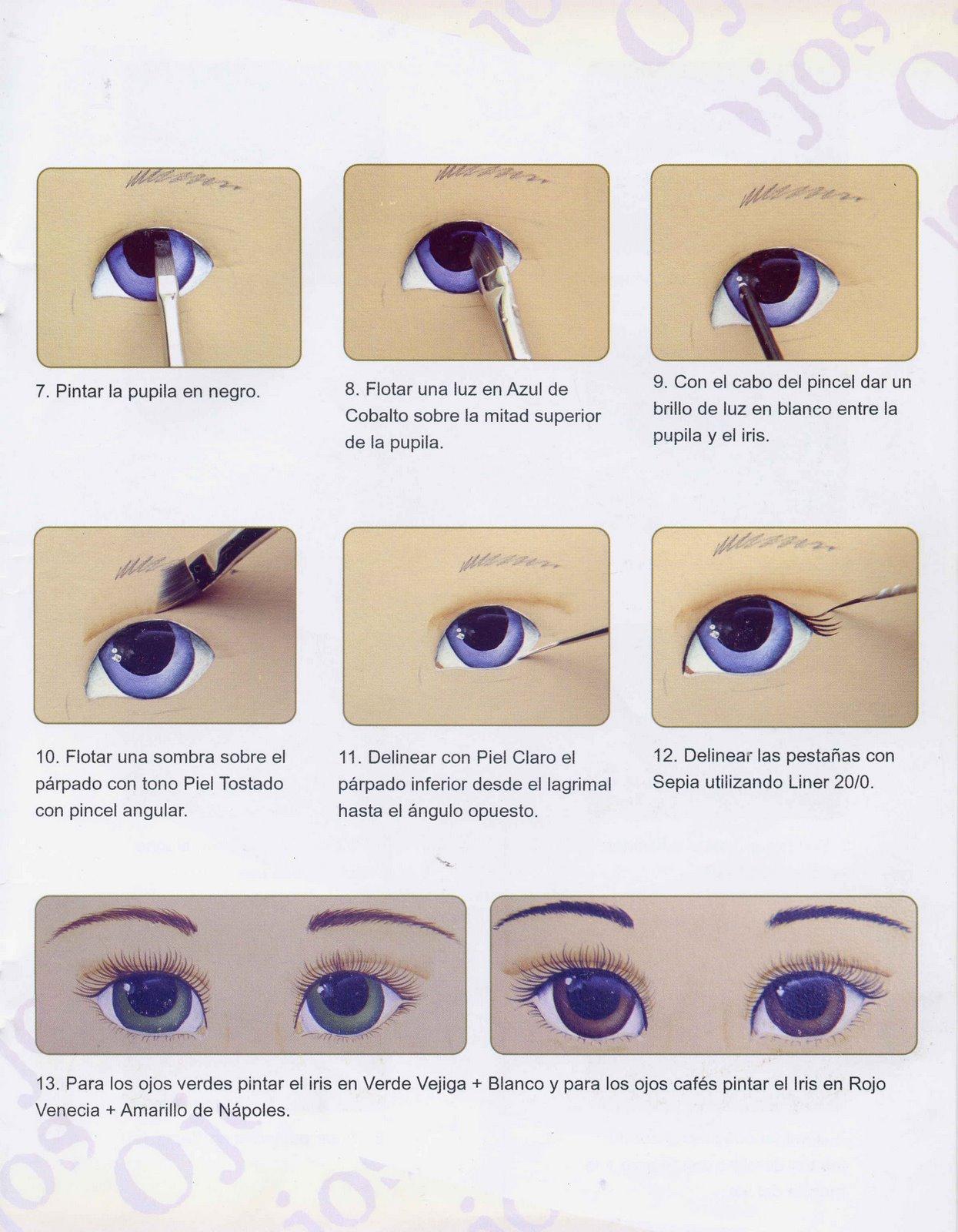 Dibujos y plantillas para imprimir pintado ojos de mu ecas for Entradas francesas faciles