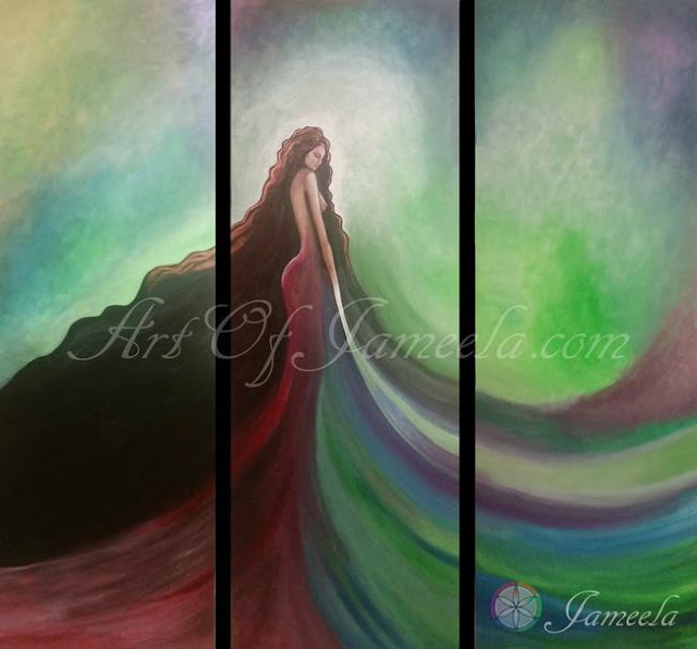 Goddess of Earth Painting by Jameela symbolizing structure, stability, growth, and fertility. Art of Jameela