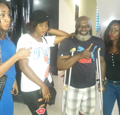 Months after surviving brutal physical attack, Actor, Harry Anyanwu returns to Nollywood (Photos)