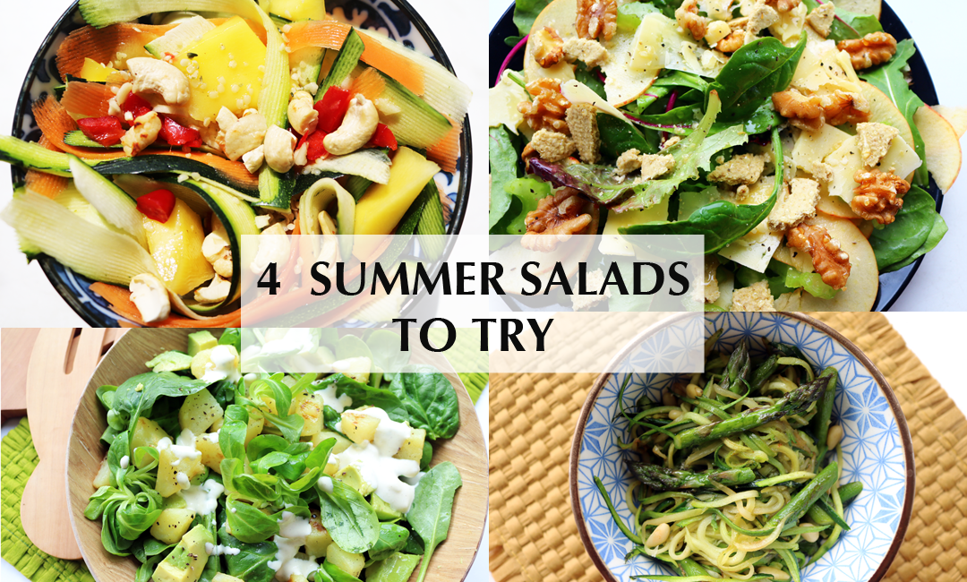 4 Salads To Make This Summer (Vegetarian & Vegan recipes)