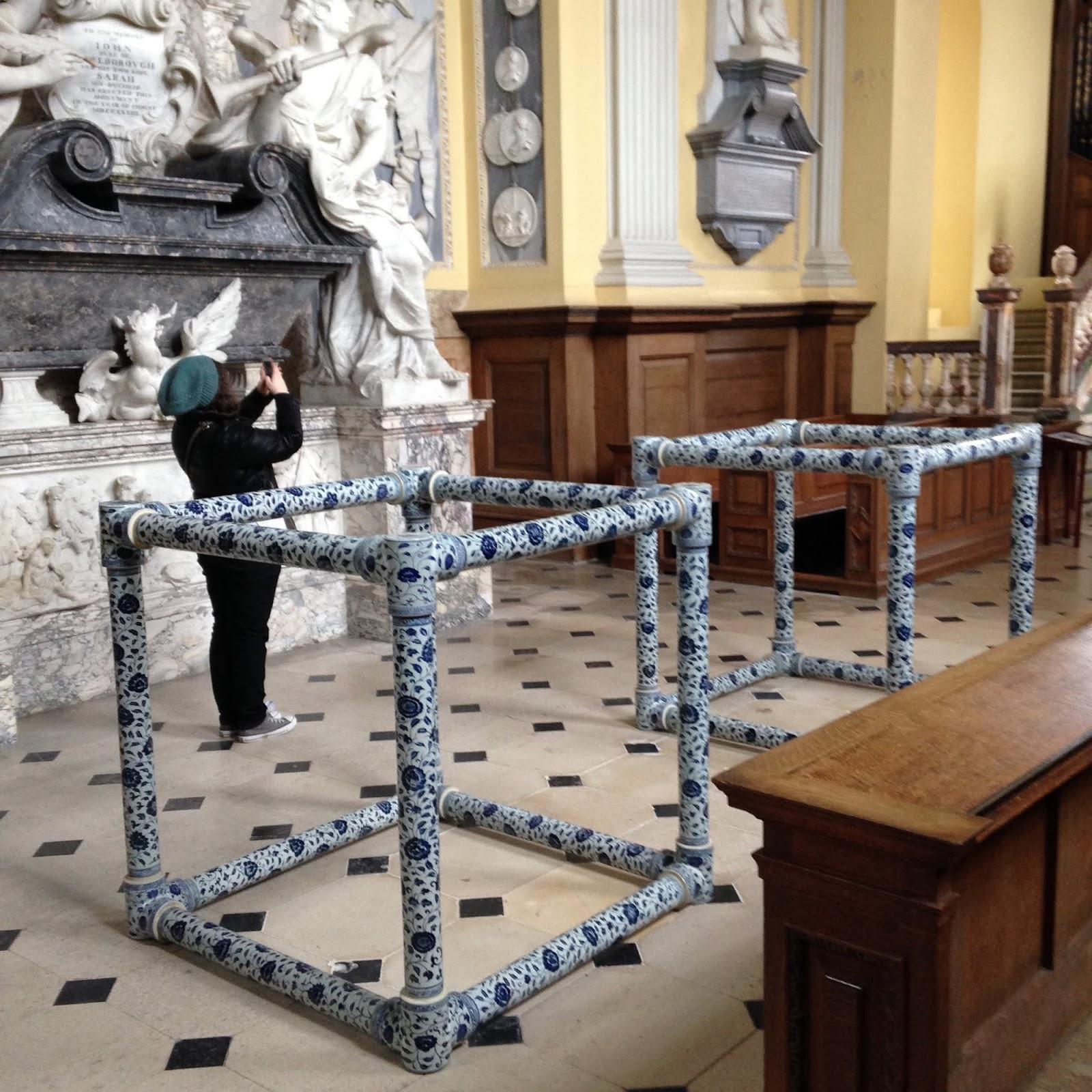 Strange art at Blenheim Palace