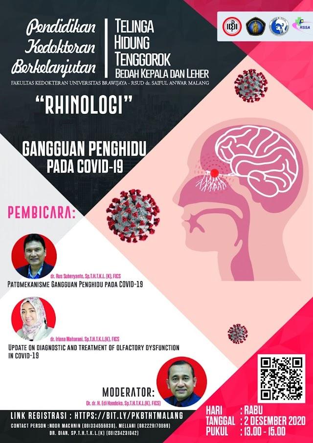 """Webinar """"Rhinologi: Gangguan Penghidu pada Covid-19"""""""