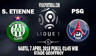 Prediksi Saint Etienne vs PSG 7 April 2018