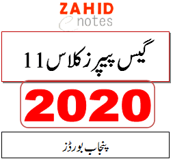 1st year guess papers 2020 for punjab board