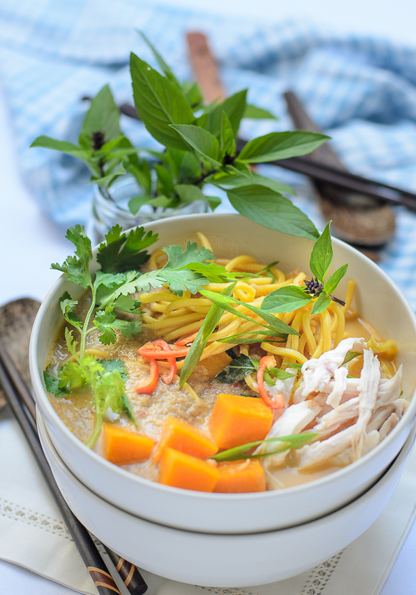Thai Noodle with Creamy Pumpkin Soup