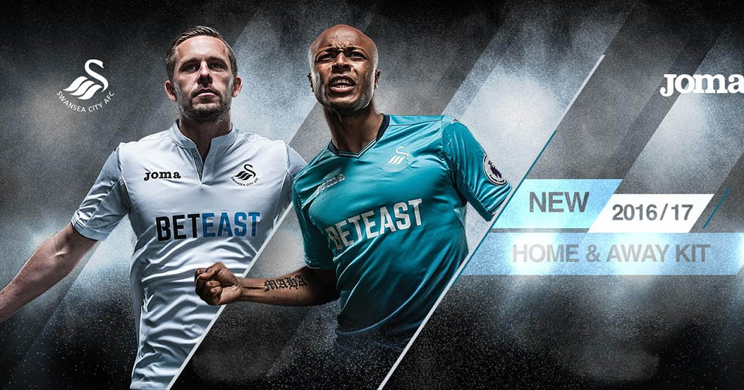 buy online 4a958 78c35 Joma Swansea City 16-17 Home and Away Kits Released - Footy ...