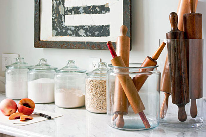 Decorating With Glass Canisters In The Kitchen Anderson Grant