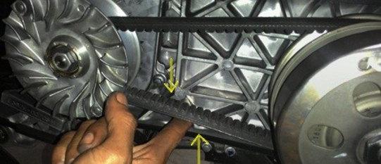 Fan Belt Mengencang - Cara Modifikasi Motor Mio M3 125cc Agar tarikan Mesinya Lebih Ringan