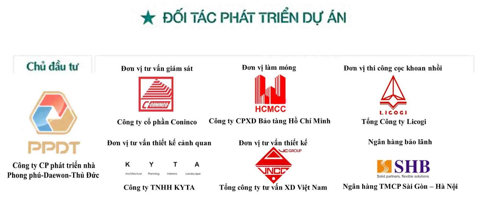 Đơn vị hợp tác phát triển chung cư Green Pearl 378 Minh Khai