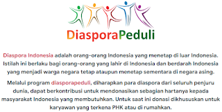 Login kemnaker.diasporapeduli.id, Daftar Program Diaspora Peduli