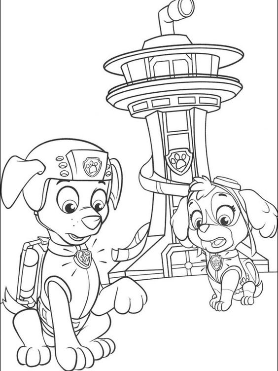 Paw patrol coloring pages 16