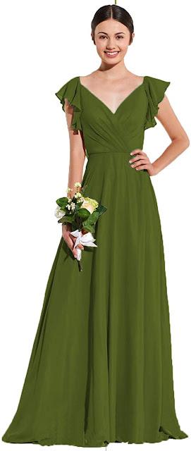 Affordable Green Chiffon Bridesmaid Dresses