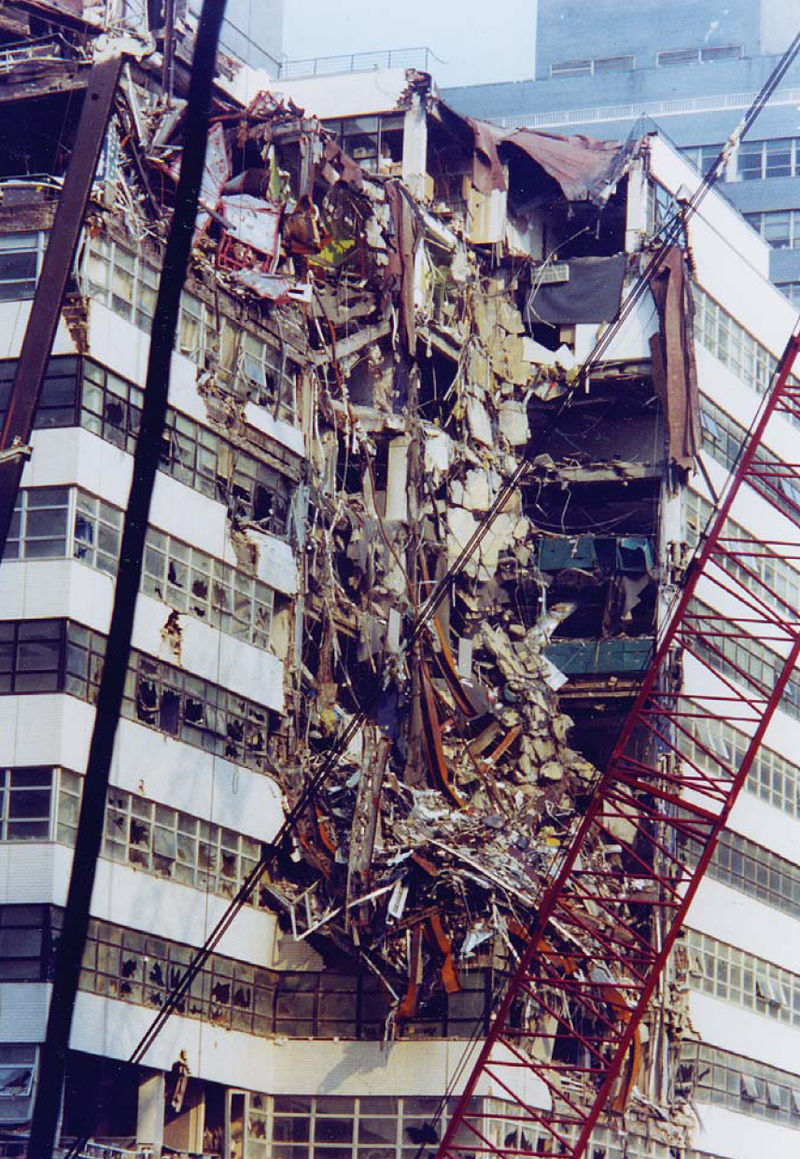Fiterman Hall was heavily damaged from the collapse of 7 World Trade Center on 9/11.