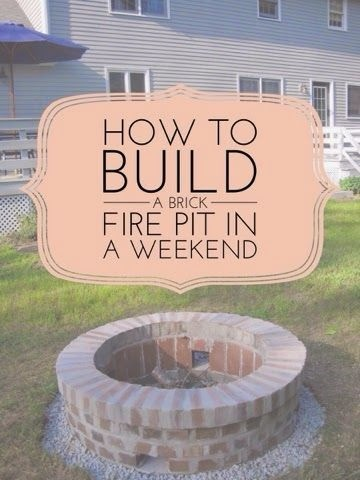 Diy Brick Fire Pit In One Weekend The Daily Diffuser Blend