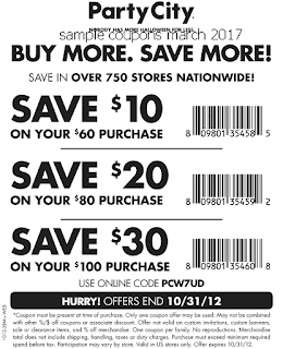 free Party City coupons for march 2017