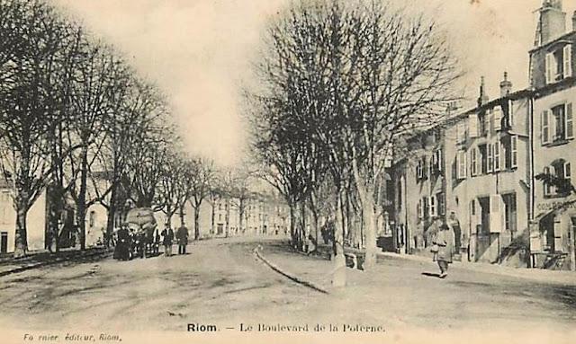 Boulevard e la Poterne à Riom, Puy-de-Dôme