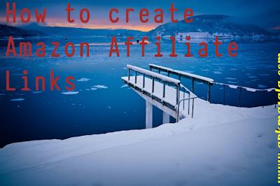 How to create Amazon Affiliate Links