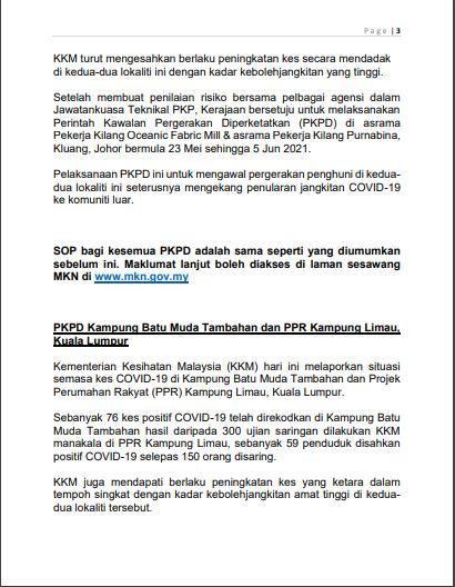 Best Fbkl Kenyataan Media Menteri Kanan Pertahanan Ds Ismail Sabri Mengenai Pkp Pkpb Dan Pkpp 21 Mei 2021