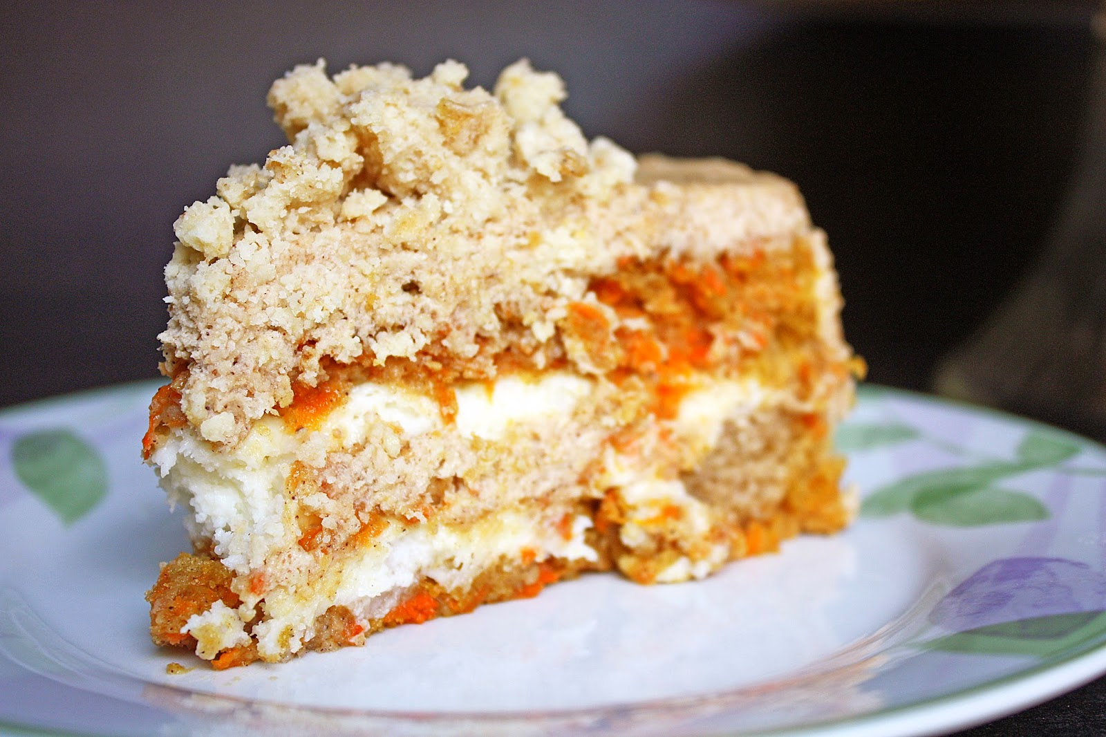 Momofuku Inspired Vegan Carrot Layer Cake With Liquid