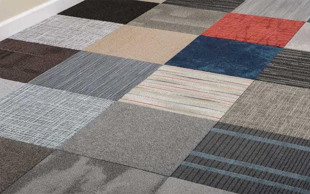 Jenis lantai karpet tile murah